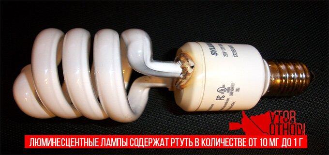 Перегоревшая лампа