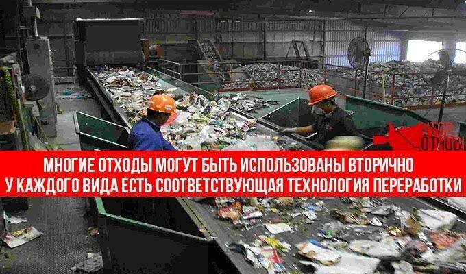 Цикл переработки мусора