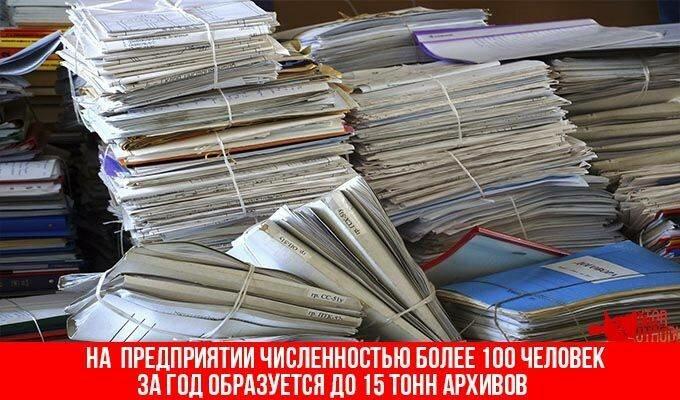 Бумажные отходы на предприятии