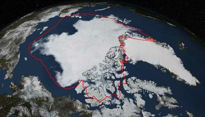 Таяние ледников из космоса